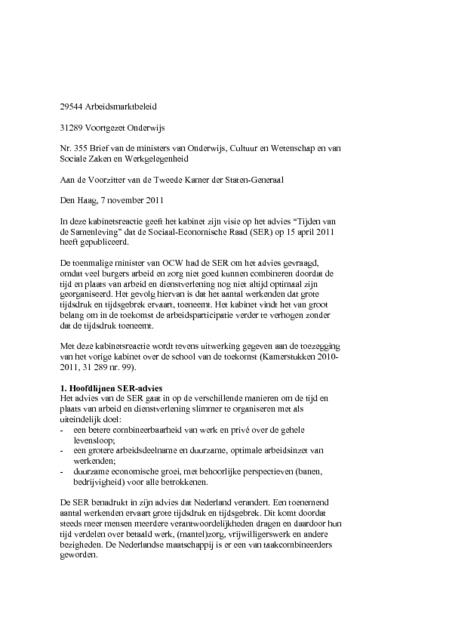 voorbeeld brief ouderschapsverlof Voorbeeld Ouderschapsverlof Brief | gantinova